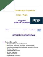 Kuliah 7 Struktur Organisasi
