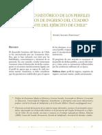 Desarrollo histórico de los perfiles y requisitos de ingreso del Cuadro Permante del Ejército de Chile