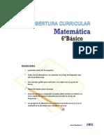 Cobertura Curricular Matematica 6basico 2013