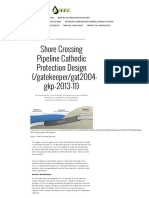 Shore Crossing Pipeline Cathodic Protection Design — GATE, Inc