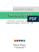 The Essential Guitar Manuscript Kit by Simon Powis