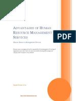 Advantages of Human Resource Management Services
