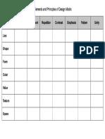 elements and principles matrix
