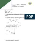 Prova Geometria 8º Anos Vespertino