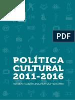 Politica Cultural 2011 2016