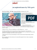Amartya Sen on Neglect of Government on Education and Health