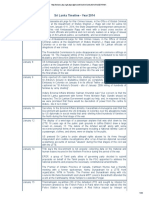 Srilanka Timeline 2014