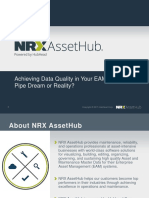 Achieving Data Quality in Your EAM System David Hattrick HubHead Corporation
