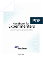 Handbook for Experimenters DX8 Design Expert