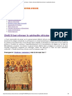 African History – Histoire Africaine [Defi] Il Faut Reformer La Spiritualite Africaine
