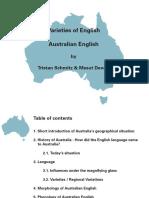 Varieties of English-Australian English