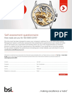 ISO 9001 Self Assessment Checklist