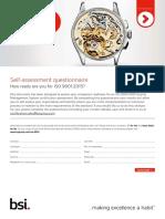ISO 9001 Self Assessment Checklist