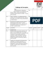Catálogo de Conceptos