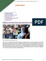 African History – Histoire Africaine [Defi] La Necessite d'Etre Une Generation d'Entrepreneurs