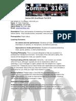 COMMS 316 Media Performance Syllabus