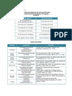 FechasySedesdeAplicacionNacionalEXANI-III2016