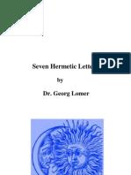 Georg Lomer - Seven Hermetic Letters