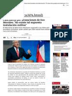 Cancillería por acusaciones de Evo Mora...ación militar' | Política | LA TERCERA