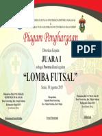Juara 1 Lomba Futsal