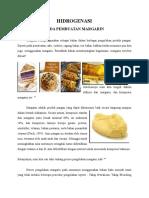 Hidrogenasi Pada Pembuatan Margarin