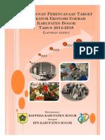 Penyusunan Dok Target Indikator Ekonomi Daerah Kab Bogor - 2014-2018