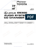 ES 300 CD Changer Service Manual