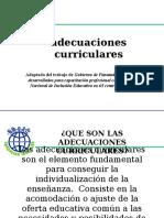 Adecuacion Del Curriculum