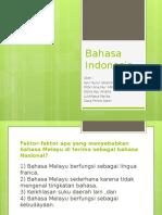 Bahasa Melayu diangkat sebagai Bahasa Indonesia