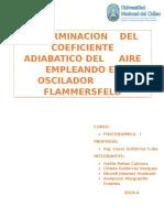Fisicoquimica i Determinacion de Coeficiente Adiabatico