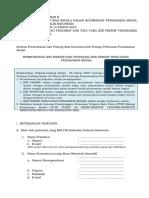 Formulir II Permohonan Izin Prinsip, Izin Investasi, Izin Prinsip Perluasan