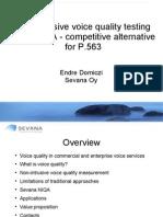 NIQA - Competitive Alternative for Non-Intrusive Voice Quality Testing (P.563)
