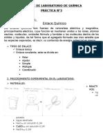 Informe de Laboratorio de Química