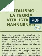 5.- Teoria Vitalista de Hahnemann