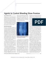 2007.-Agents to Control Bleeding Show Promise