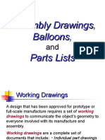 Assembly Drawings Balloons Parts Lists