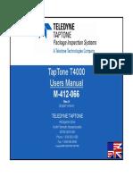 M-412-066 T4000 Users Manual English Rev A
