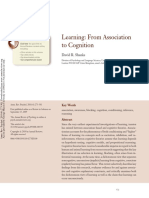 Learning; From Association to Cognition