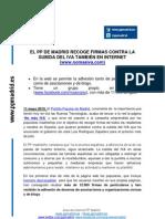 Nota de Prensa Web PP Madrid campaña NO mas IVA