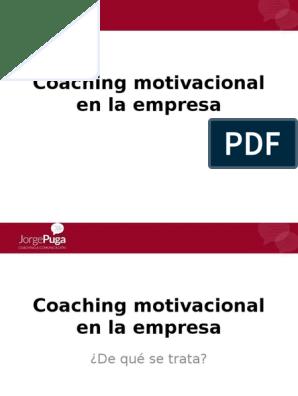 Coaching Motivacional En La Empresa Motivación