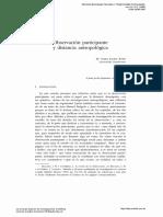 Participación y Distancia Antropológica