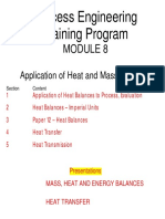 Mod 8-Application of Heat and Mass Balances