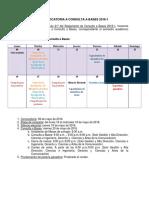 Convocatoria a Consulta a Bases 2016