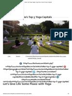 India's Top 5 Yoga Capitals, Yoga Cities in India _ Tourism Infopedia