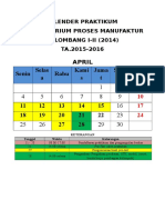 Kalender Praktikum Gel I-II (2014) T.A 2015-2016 (revisi)