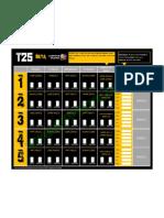 T25 Beta Phase Calendar