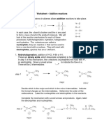 Worksheet - Addition Reactions