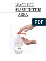 Please Use Handwash in This Area