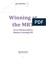 DN21 - Winning at the MRT With Annexures (1)