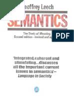 Geoffrey Leech Semantics the Study of Meaning